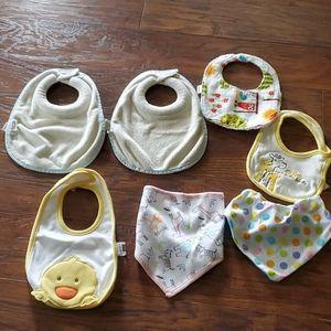 MUST GO! Set of 7 Baby Bibs